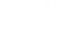 WARRANTY 2 year warranty from date of purchase
